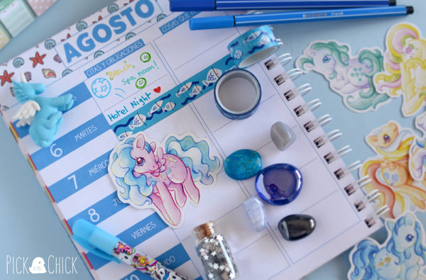 Pegatinas My Little Pony Sea Breeze, Wave runner, Seashell, Tootie tails, Angel y Beach ball