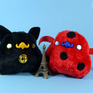 Peluche kawaii miraculous ladybug chatnoir pollito Chiripio version
