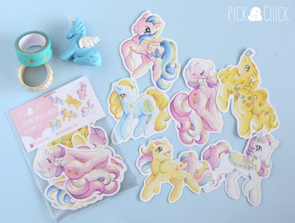 Pegatinas my little pony Dancing Butterflies, Bluebelle, Daffodil, Flower Bouquet, Trickles y Sweet Clover